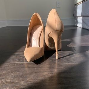 Pointed Stiletto Nude Heels